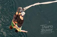 Taupo Bungy, located on the Waikato river valley, just upstream from the Hukka Falls.