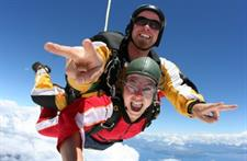 Taupo Tandem Skydive, high above the Great Lake Taupo