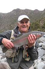 Fisherman with trout