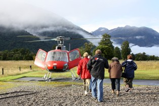 ANZ Nature Tours can provide you with a sample itinerary including a helicopter flight