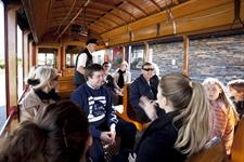 On board Auckland Tram