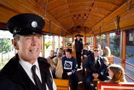 The friendly face of Auckland Tram
