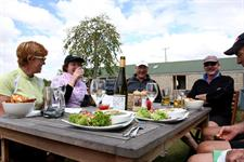 Outdoor Lunch Weddernburn Tavern - Otago Central Rail Trail
