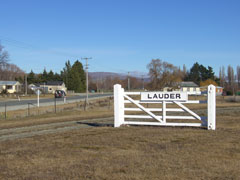 Lauder is situated on the Otago Central Rail Trail between Omakau and Becks
