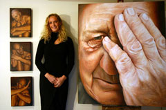 The dramatic detailed portraits painted by Southland artist Deidre Copeland