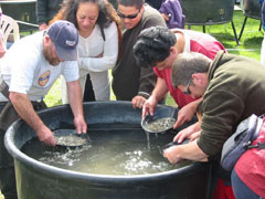 Gold panning the way it was done 100 years ago