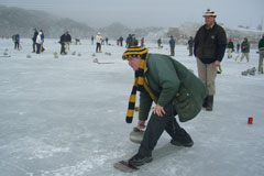 Curling in the Central Otago winter