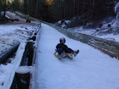 A natural luge offers a good start for aspiring luge athletes