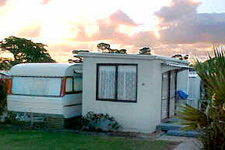 Caravan Cabana 10 at Clarks Beach Holiday Park