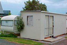 Caravan Cabana 32 at Clarks Beach Holiday Park