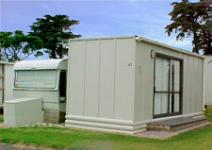 Caravan Cabana 41 at Clarks Beach Holiday Park