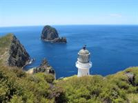 Cape Brett Lighthouse looking toward Percy Is.
