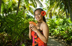 Exploring the gardens of Rarotonga