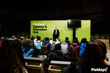 GM Commercial Nick Dromgool welcomes Auckland high school students to Fieldays