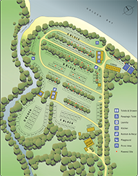 Golden Bay Holiday Park Camp Map