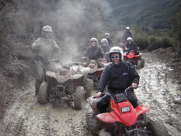 Get ready for the adrenaline-pumping thrill of a real quad bike adventure, with river crossings, hill climbs, jumps and bumps