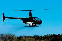 Hanmer Springs Helicopters R44 Boom spraying