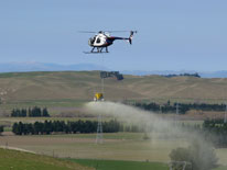 Hanmer Helicopters offer a range of aerial agricultural spraying and topdressing services.