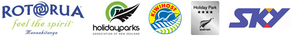rotorua tourism and accommodation logos