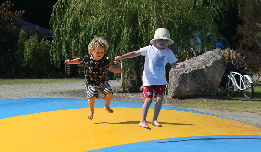 Kids, fun. jumping pillow