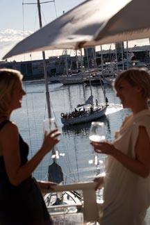 The Auckland harbour front is a great place to go for an evening meal