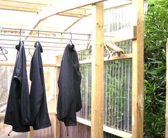 Off Road NZ Sustainability Outdoor Drying Area
