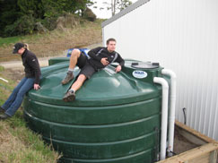 Off Road NZ Sustainability Collecting Rain Water