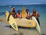 Surfing in New Guinea