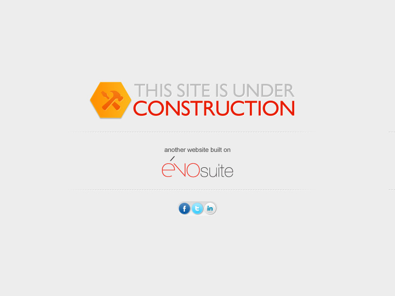The site is under construction - Another website build on evoSuite