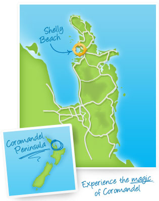 Shelly Beach map
