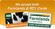 We accept Farmlands & RD1 cards