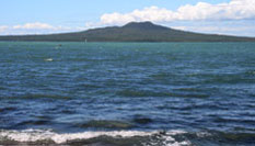 View of Rangitoto Island from Takapuna Holiday Park