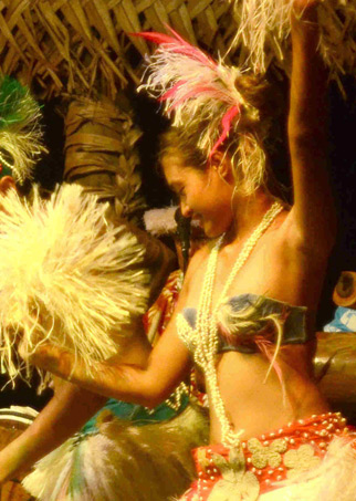 Cook Island Traditional Dancer