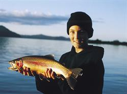 Catch of the day - Rainbow trout fishing in Rotorua