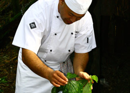 Chefs use fresh produce from the Estate garden