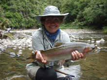 catching trout at Treetops Lodge Rotorua