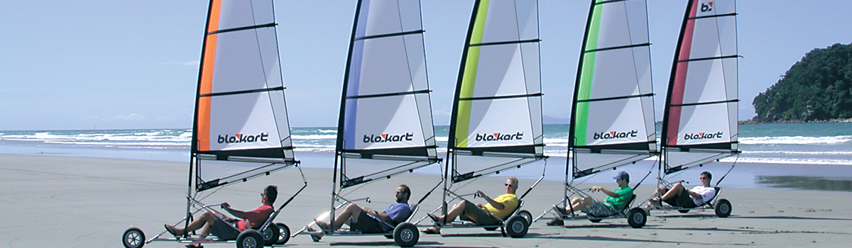 Blokarting is a great leisure activity for Tauranga conference delegates.