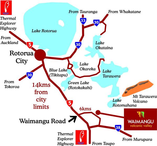 Waimangu Volcanic Valley Geothermal Attractions Rotorua Activities Rotorua Nz