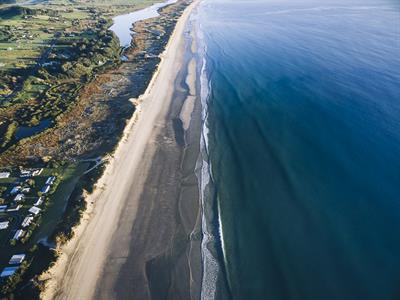 Waipu Cove Beach Aerial - Russell Ord Photography
