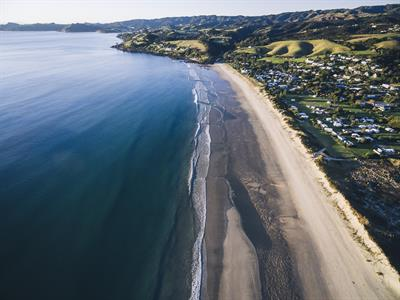 Waipu Cove Aerial View - Russell Ord Photography