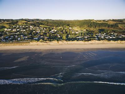 Camp Waipu Cove Aerial; - Russell Ord Photography