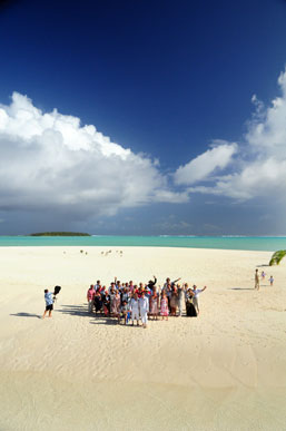 A wedding on stunning One Foot Island