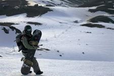 Taupo Skiing, Mt Ruapehu, Tukino Ski Field, in the Tongariro national park
