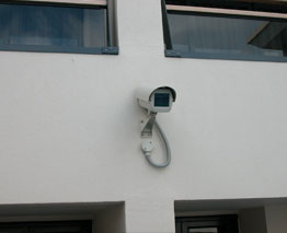 Our luxury apartment complex features surveillance cameras in all public areas