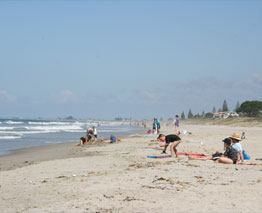 Papamoa Beach is also very popular; stretching kilometres down the coast