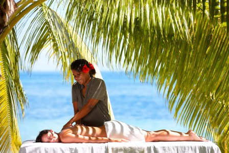 Experience luxury accommodation including a beach massage on Lomani Island in Fiji