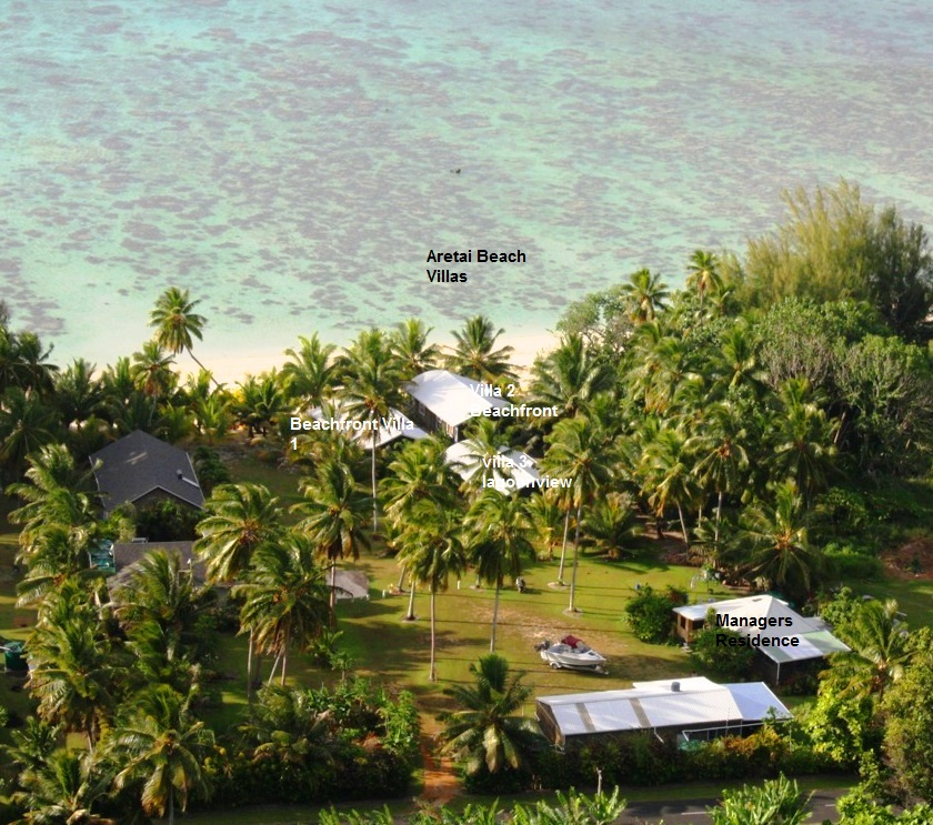 Cook Islands Beaches: Location Aretai Villas, Top Quality Accommodation In