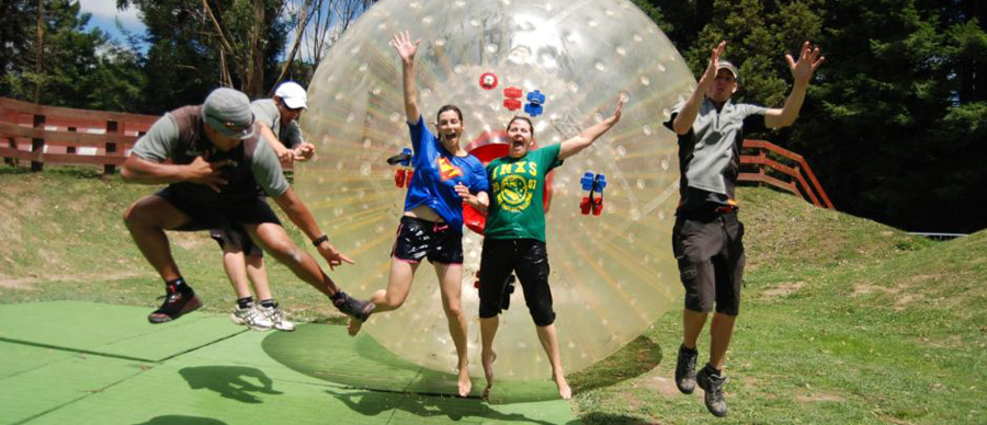 Aroha Luxury Tours - Family values tour - Zorbing fun