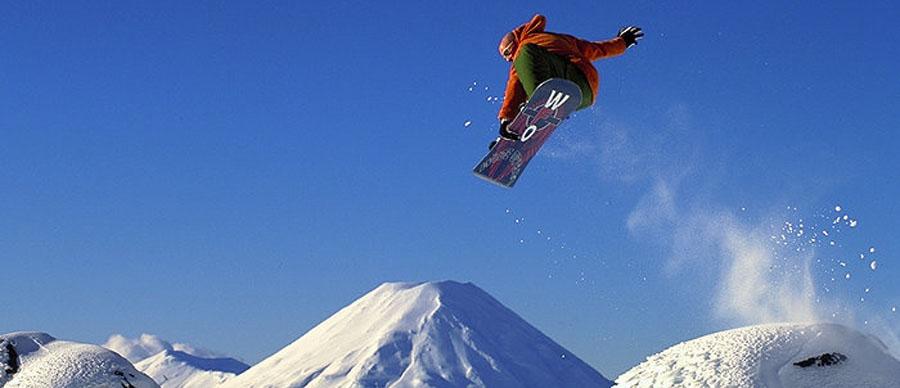 Aroha Luxury Tours - About New Zealand Sports - Snowboarding