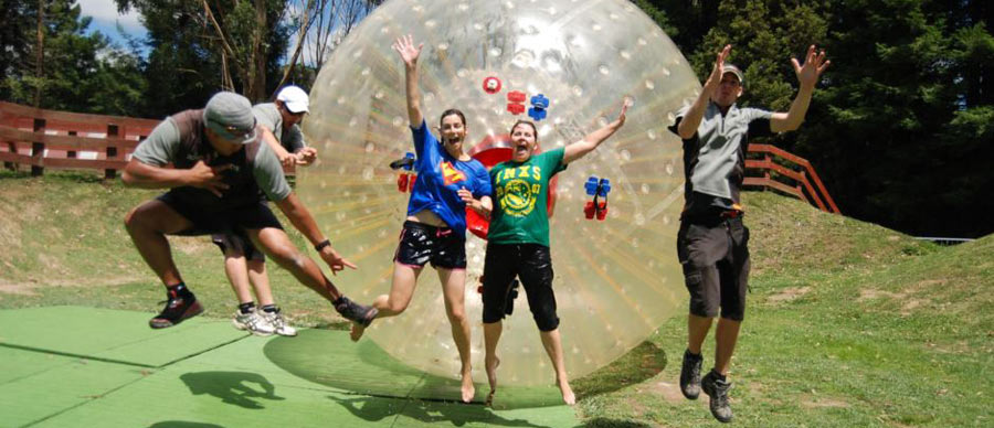 Aroha Luxury Tours - About New Zealand Inventions - Zorbing